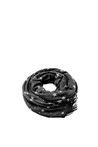 ESPRIT Accessoires Damen Schal 088EA1Q014, Schwarz (Black 001), One Size (Herstellergröße: 1SIZE)