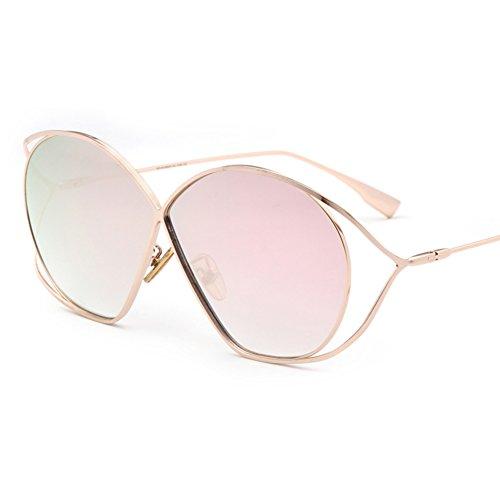 Z&HA Frauen Sonnenbrille Schmetterling Geformt Hohlen Rahmen Designer Brillen Dame Zubehör Mädchen Geschenk Gläser,Rosegold