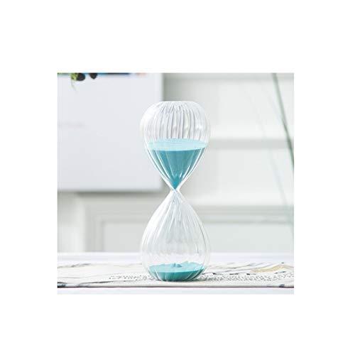 Aishanghuayi-ou clessidra, linea design creativo, una clessidra che può essere gestita bene, decorazioni desktop, buona qualità, azzurro (grande/medio/piccolo opzionale) durevole (size : middle)