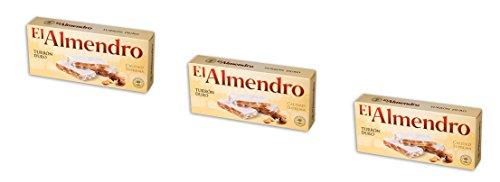 El Almendro - Turron Duro - Das Packet enthält 3 Hartes Mandelnougat...