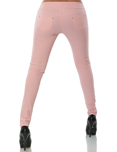 Damen Treggings Hose Skinny (Röhre weitere Farben) No 14028 Rosa