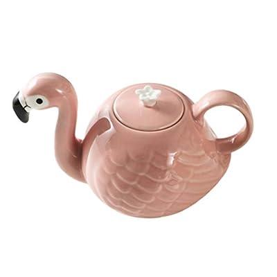 BESTONZON Théière Céramique Flamingo Resistant a la Chaleur