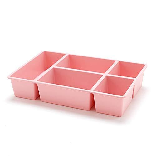 KKY-ENTER Boîte de rangement cosmétique Rouge à lèvres en plastique Produits de soins de la peau, coiffeuse, Articles de bureau, Boîte de finition (Couleur : Pink)