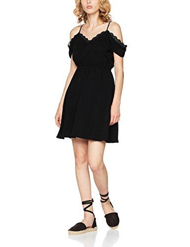 VERO MODA Damen Kleid Vmmille S/L Short Dress, Schwarz (Black Black), 34 (Herstellergröße:XS)