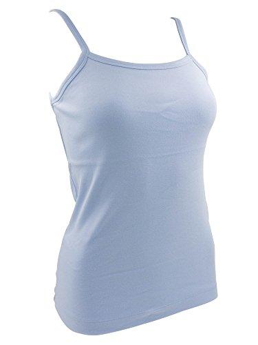 Débardeur Femmes à Bretelles Bleu clair