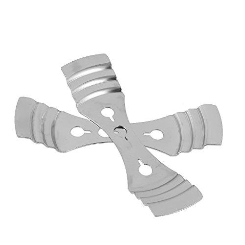 philna12mecha de vela soporte para vela de dispositivo de centrado accesorios (plata)