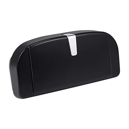 Jevogh Auto Brillenetui Brillenhalter Brillenhalterung Box mit magnetischem Saugnapf Karteneinschub Münzenhalter Aufbewahrungstasche für Auto Sonnenblende GR23