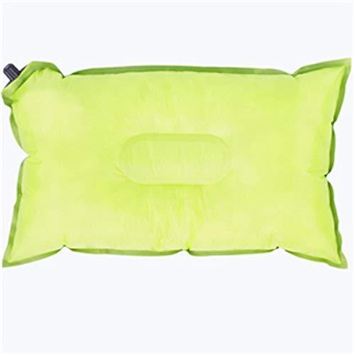 Zleimjab Gemütlich Outdoor Tragbare Automatische Aufblasbare Reisekissen Sitzkissen für Flugzeuge Strand Auto Camping (Color : Green) - Basic-kissen-abdeckungen