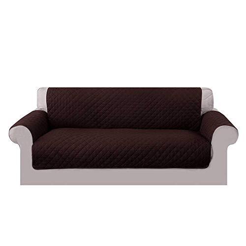 3-sitz-sofa-abdeckung (Umiwe Sofa Abdeckung 3 Sitzer, Sofabezug Couch DREI Sitze 2 Sitzer Sofa Saver Schonbezüge Weich Sessel im Blau Braun Grau (braun, 3-Sitzer))