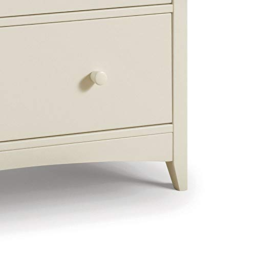 Changing Station with Drawers, Happy Beds Cameo Stone White 3 Drawer Storage Baby Changing Table - 92cm x 94cm x 55cm