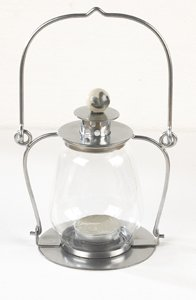 Hanging Tea Light Garden Lantern - A Great Variety of Colours Available! (Antique Silver)