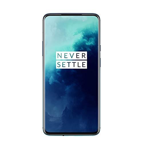 "OnePlus 7T Pro Smartphone Haze Blue | 6.67""/16,9 cm AMOLED Display 90Hz Screen | 8 GB RAM + 256 GB Storage | Triple Camera + Pop-Up Camera | Warp Charge 30"