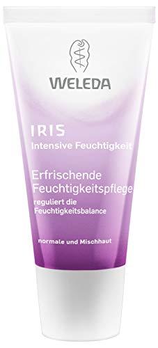 WELEDA Iris Erfrischende Feuchtigkeitspflege, reichhaltige Tages- und Nachtpflege zur intensiven Pflege von trockener Haut, Naturkosmetik Creme reguliert die Feuchtigkeitsbalance (1 x 30 ml)