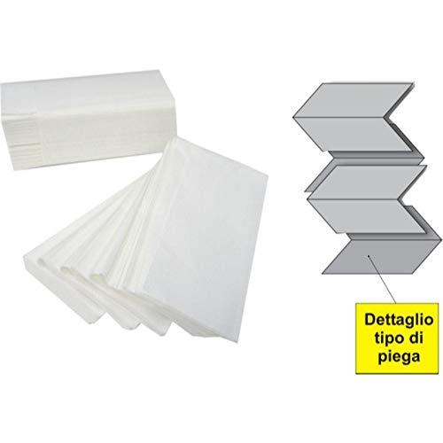 Palucart asciugamani interfogliati a V pura cellulosa doppio velo 3150 15cf x 210 21cm x 21cm