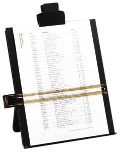 5 Star Office Desktop Vorlagenhalter mit Zeilenlineal A4 schwarz
