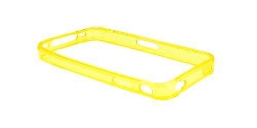 Neues Modell - Silikon Hülle Schutzhülle Rückschale Diamant-Case Cover für Apple iPhone 4 / 4S /4G - Orange Bumper - Gelb