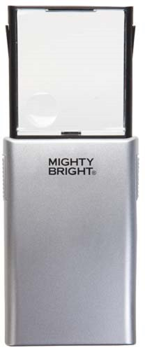 Mighty Bright Led Lighted Pop-Up Magnifier, Silver