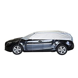 ballier Auto-Halbgarage Autoabdeckung Platin, Limousine - Cabrio - Sportwagen – atmungsaktiv – leicht – wasserdicht – reißfest – lackschonend - Größe SP