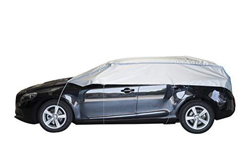 ballier Auto-Halbgarage Autoabdeckung Platin, Kombi, Kasten, Touring, Fließheck - atmungsaktiv - leicht - wasserdicht - reißfest - lackschonend - Größe 2VS - Kombi, Kasten, Touring, Fließheck