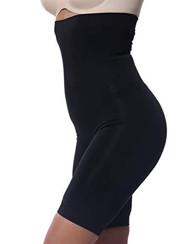Franato Damen Miederhose Shapewear Bauch-Weg-Effekt Formt Strafft Schwarz XXL