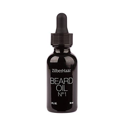 zilberhaar Bart Öl # 1–Pure, Organic Marokkanisches Argan und Jojoba-Öl für Natur Bart Wachstum und Hydration–1oz–GRATIS Bartkamm Geschenk