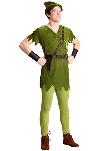 Adult Classic Peter Pan Fancy Dress Costume Large