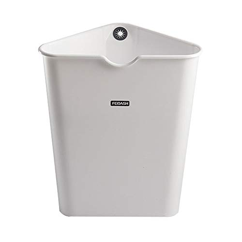 FTLY Dreieckiger Mülleimer Moderner Kunststoff 8L Mülleimer Kreative Einfache Japanischen Stil Mülleimer Ungedeckten Haushalt Einfache Mülleimer Schlafzimmer Wohnzimmer Badezimmer Abfallbehälter - Kunststoff 8