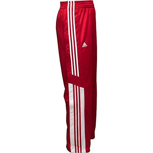 adidas Herren Warm-Up Snap Trainingshose (M, Rot/Weiß) -