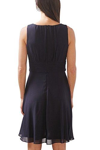 ESPRIT Collection Damen Kleid 027eo1e005 Blau (Navy 400)