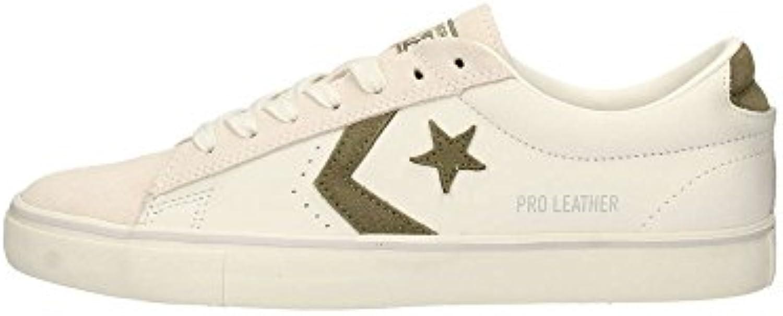Converse 160927C Weiß Grün Weiß Mann Leder Schnürsenkel Schuhe