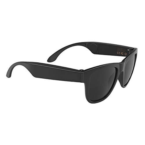 Knochen-Betreuung Bluetooth Smart Glasses Anti Blue Lens Bluetooth Glasse Stereo Earphones, Smart Touch, geeignet für Laufen, Outdoor, Radfahren, Fahren,Black
