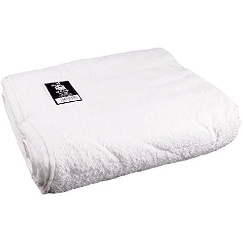 475GSM, 100% cotone Massive enorme Jumbo Telo da mare o asciugamano 1,5x 2m, colore: bianco