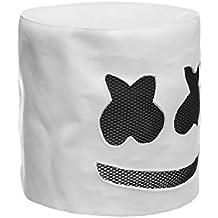 Pgige Moda Fiesta de Halloween Club Nocturno Látex Máscara Blanca Adulto DJ Marshmello Máscara Cosplay Traje