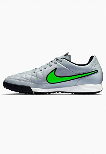 NikeTiempo Genio Leather TF - Scarpe da Calcio Uomo (BLACK/SPRNG LEAF-CRG KHK-WHITE)