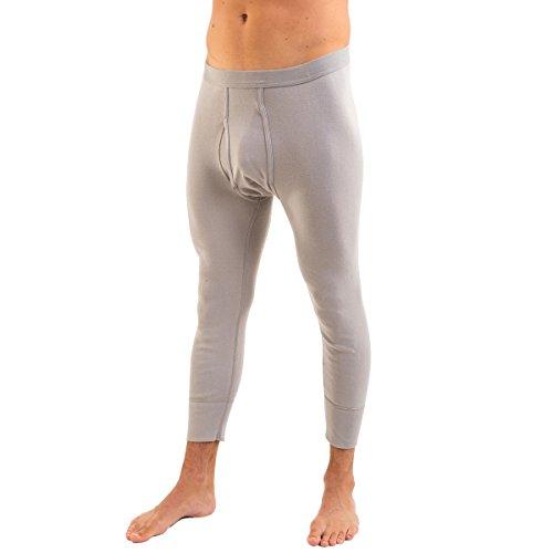 HERMKO 3440 2er Pack Herren 3/4-lange Unterhose (Weitere Farben) Grau