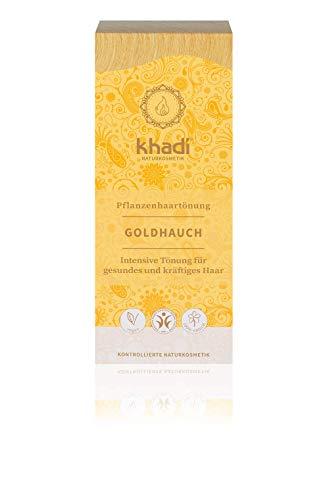 khadi Pflanzenhaarfarbe Goldhauch 100g I Haarfarbe für goldenes Blond bis Kupfer I Naturhaarfarbe 100{1fd51cc7e87718316f0c1aacd92d8c382a518cfb7defc68808205366c86e00ef} pflanzlich