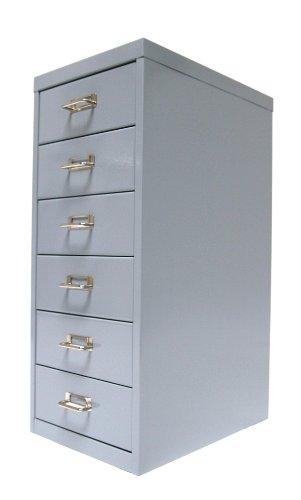 Schubladenschrank, 66x28x40cm, 6 Schubladen, silbergrau, Marke: Szagato (Büroschrank,...