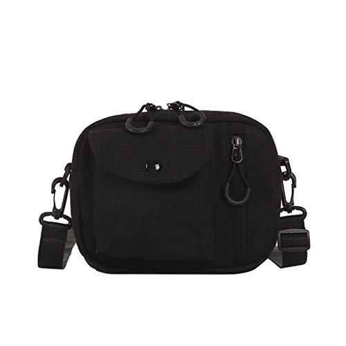 Ledertasche, Schultertasche, Geschenk, Handgefertigte Tasche,Frauen-Segeltuch-Spassvogel-nette Kuriertasche-Umhängetasche kleine quadratische Tasche ()