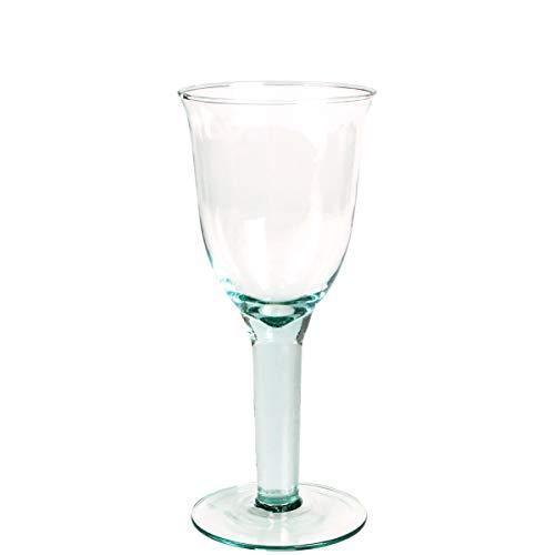 BUTLERS Authentic Weißweinglas im zeitlosen Design aus Recycling-Glas 225 ml grünlich