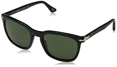 Persol Herren 0Po3193S 95/31 55 Sonnenbrille, Schwarz (Black/Green)