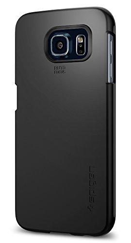 Samsung Galaxy S6 Hülle, Spigen® [Thin Fit] Passgenaues [Schwarz] Schlanke Premium-Case Schutzhülle / Samsung S6 Hülle - Black (SGP11308)