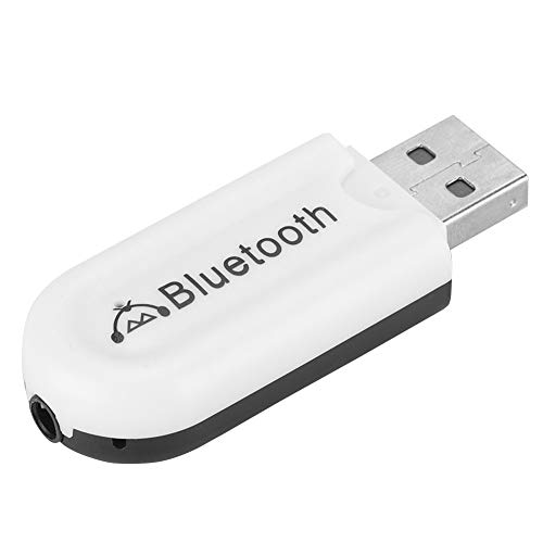Garsent Bluetooth Audio Receiver, USB Wireless Bluetooth Musik Stereo Receiver Adapter Unterstützung 3,5 mm AUX Musik Streaming Sound System für Auto Stereo Lautsprecher(weiß) Auto Stereo-sound-systeme