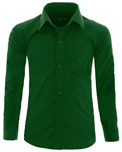 Gillsonz - camicia - classico - ragazzo verde 8/9 anni
