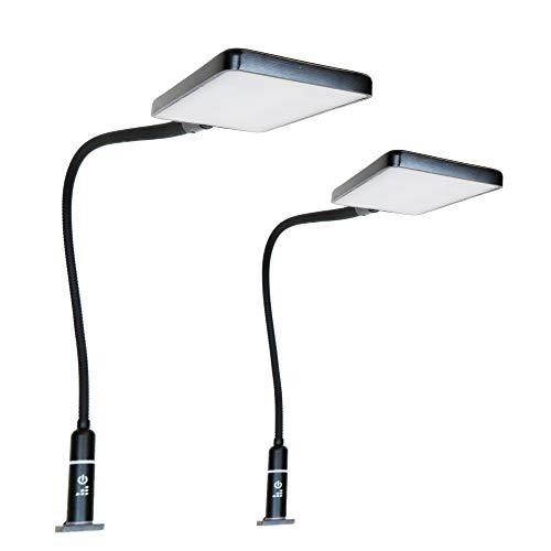 4W LED Bettleuchte Leseleuchte Flexleuchte Nachttischlampe Bettlampe Leselampe schwarz, Auswahl:2er Set schwarz -