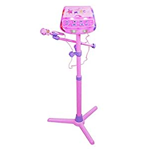 Bambini Karaoke Macchina, Foxom Stand Up Kit Di Altoparlanti Portatile Per Bambini Giocattoli Di Natale Stand Musica Play Set (Rosa)
