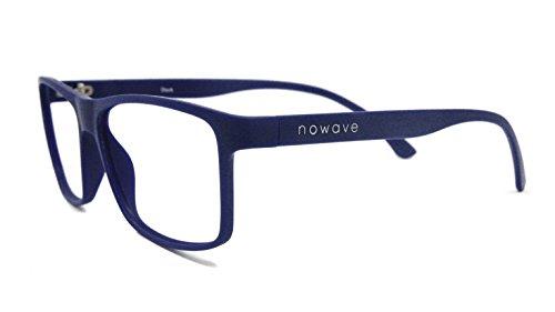 NOWAVE Occhiali neutri per PC, Tablet, TV e Gaming. Eliminano stanchezza e irritazione visiva. Montatura super leggera. Occhiali riposanti ANTI LUCE BLU 40% e UV 100%. Collezione Moda 2019 | Dock