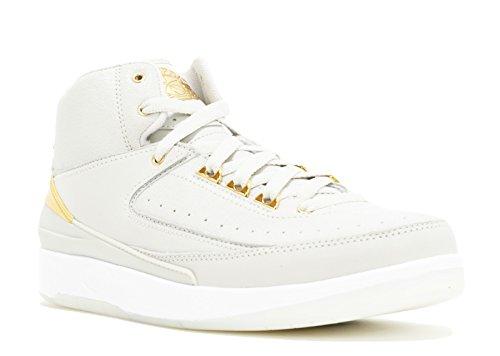 Nike Jungen Air Jordan 2 Retro Q54 BG Basketballschuhe, Blanco (Light Bone/Metallic Gold-White), 37.5 EU
