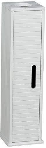 Bakaji - Mueble de baño alargado, de pie, con puerta de madera de DM, 64x 18x 17cm, color blanco...