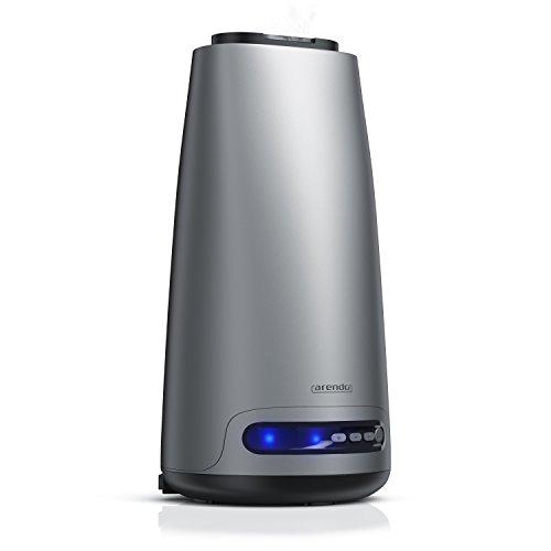 Arendo - Design Luftbefeuchter Novana | LED Aroma Raumbefeuchter | einfache Bedienung durch Regulierung der Nebelstärke (3 Leistungsstufen) | Zur Verbesserung der Gesundheit | Auto Off