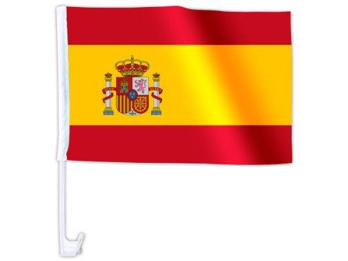 Bandierina per la macchina bandiera decorazione macchina tifosi calcio paese internazionale europei mondiali coppa europa sintetico estate festa eventi spettacolo, AFL-01-18:Spagna